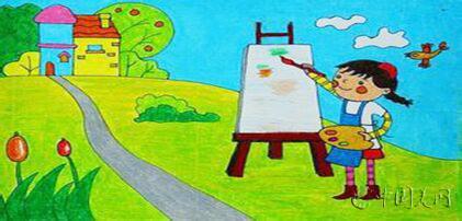 少儿美术创意作品图片