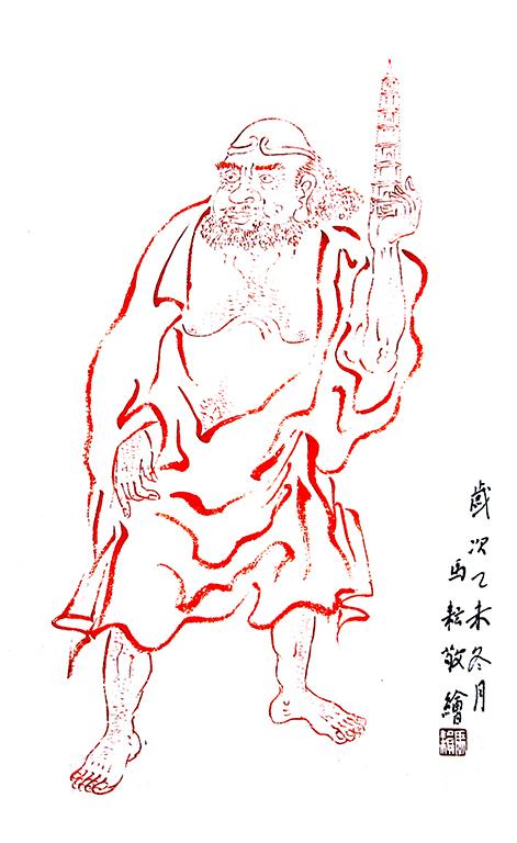 代表佛教的手绘图片
