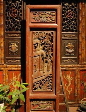 剑川木雕装修客厅图片