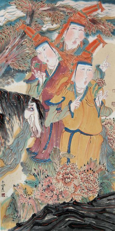 一幅幅画卷,也许,只有在创作的时候,他才能重新回到那魂牵梦萦的故乡.
