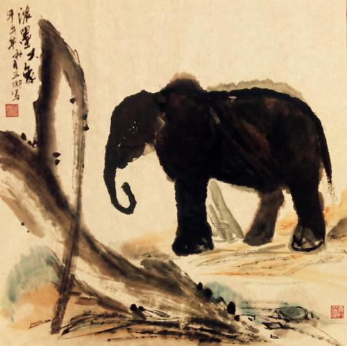 高中美术作品动物分享展示