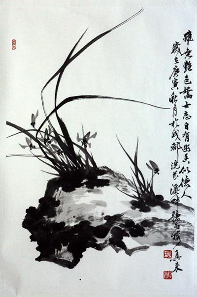 """打开《胡真来国画艺术》集""""写意花鸟""""卷,那画集中牡丹花团簇拥的"""